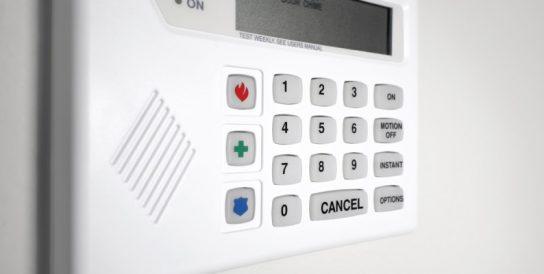 Bediendeel alarmsysteem
