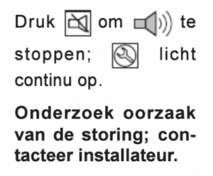 Instructies voedingsfout of accustoring